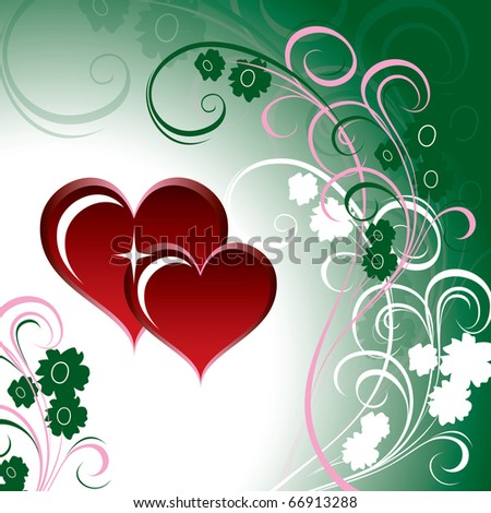 Hearts Background. Vector Illustration.