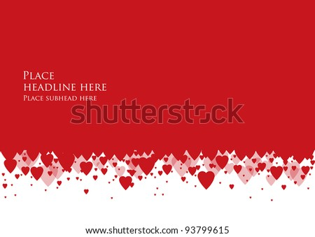 hearts background vector/illustration