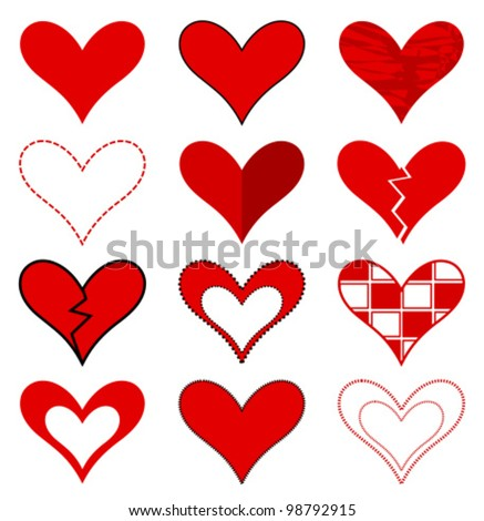 Hearts collection. Vector illustration