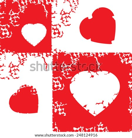 hearts grunge lightbox   - stock vector