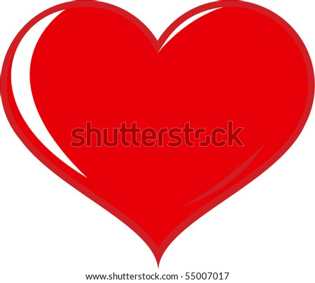 hearts isolated on white - stock vector