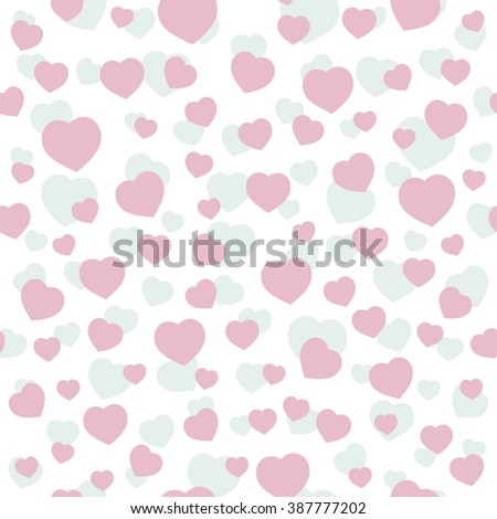 Hearts Patel Color Seamless Pattern