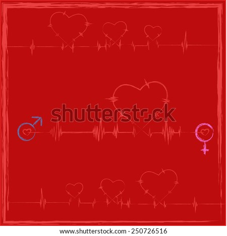 Hearts rate for Valentine's Day - stock vector