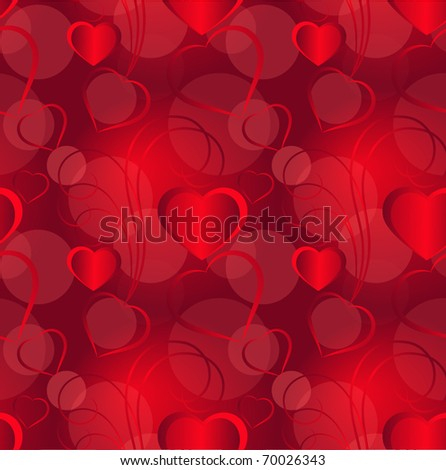 Hearts seamless background, eps10 - stock vector