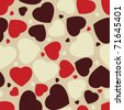 Hearts seamless Background. EPS 8 vector file included - stock