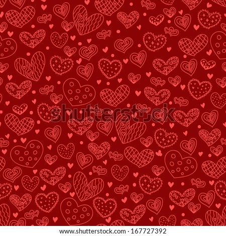 Hearts seamless. Holiday background. - stock vector