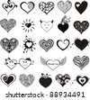 Hearts set for wedding and valentine design. hearts  isolated on White background. Vector illustration - stock