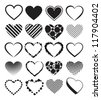 Hearts - set of Vector Illustrations. - stock photo
