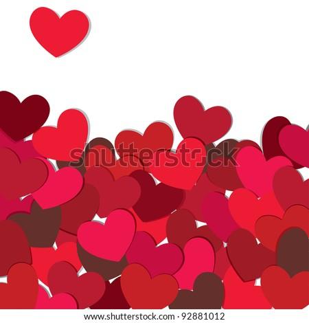 Hearts. Valentine card. Vector illustration. EPS10. - stock vector