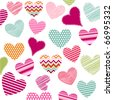 hearts valentine's icons - stock vector