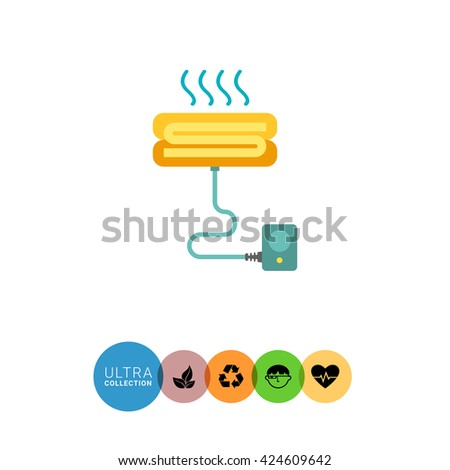 Heated sheets for beds - stock vector