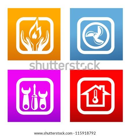 heating - stock vector