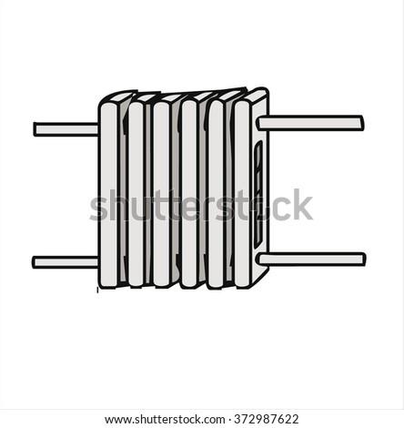 heating radiator, cartoon vector - stock vector