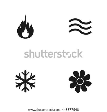 Heating Ventilating Air Conditioning Symbols Water 448877548
