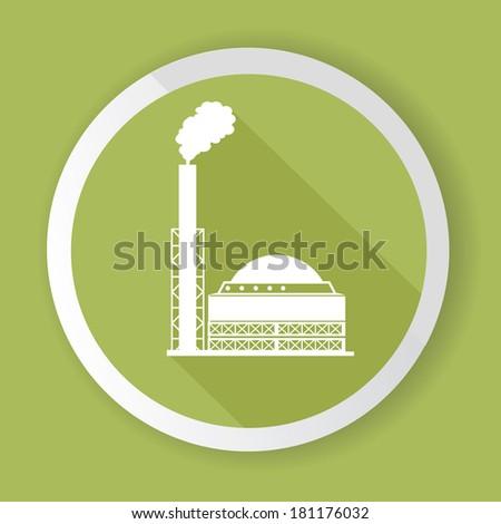 Heavy Industry,Green button,vector - stock vector