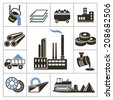 Heavy industry icons. For you design - stock vector