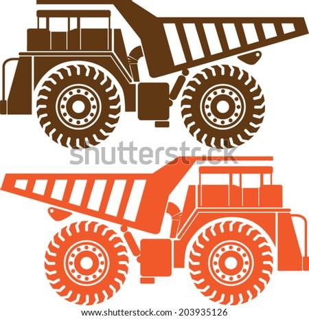 Heavy Mining Truck - stock vector