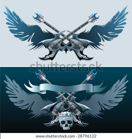 Heavy rock symbols. - stock vector