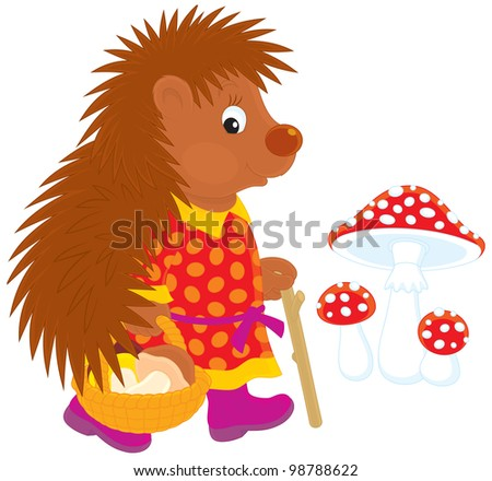 Fairy Hedgehog Eating Food