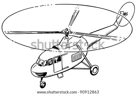 Helicopter Drawing Stock Images Royalty Free Images Amp Vectors