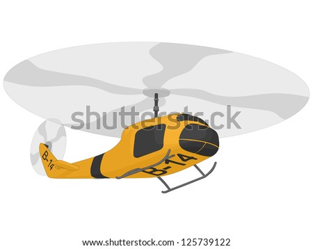 Helicopter (rescue) - stock vector