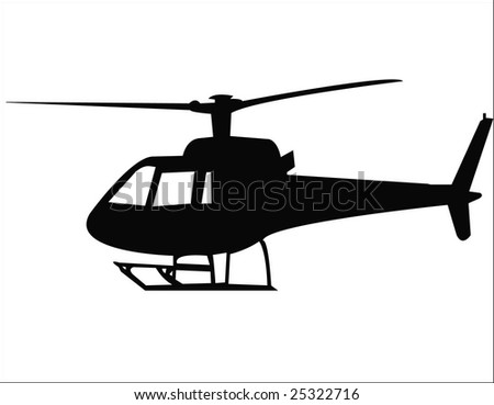 helicopter vector - stock vector