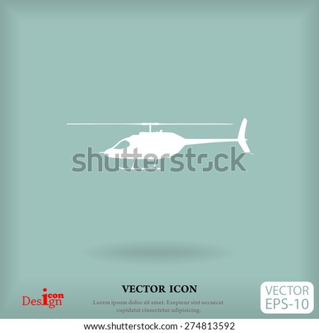 helicopter vector icon - stock vector