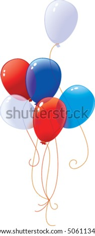 Helium Balloon - stock vector