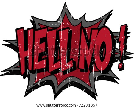 hell no - stock vector