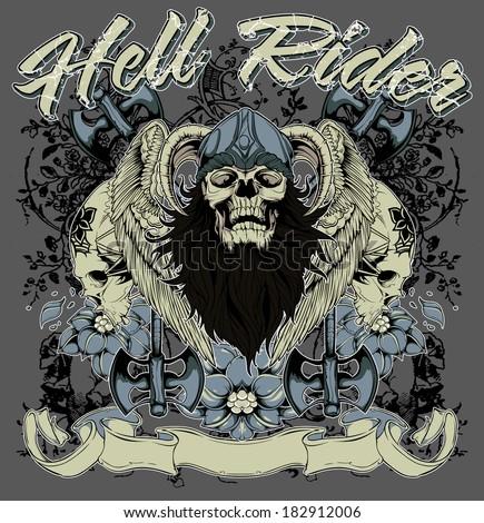 Hell rider - stock vector