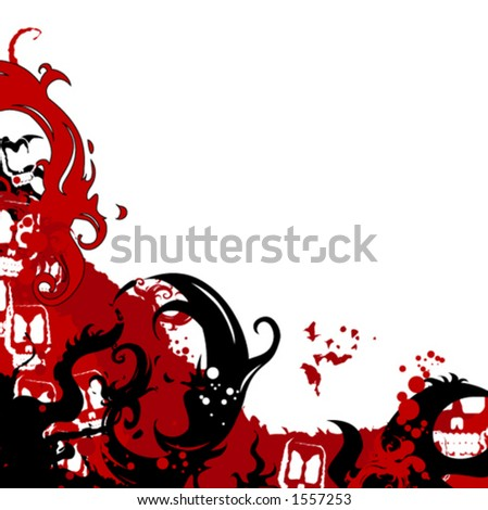 Hellish background - stock vector
