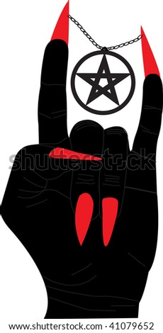 Hellish sign - stock vector