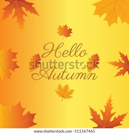 Hello Autumn Goodbye Summer Vector Illustration Stock Vector 511567465 - Shut...