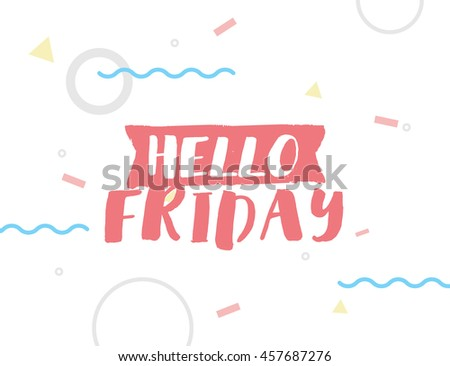 Hello Thursday Inspirational Quote Typography Calendar Stock Vector 589518758...