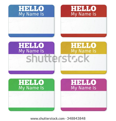 Hello My Name Is Introduction Cards Labels And Badges Set Tag