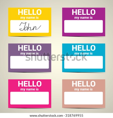 Hello my name is name tag stock vector hd royalty free 318769955 vector business card set colourmoves