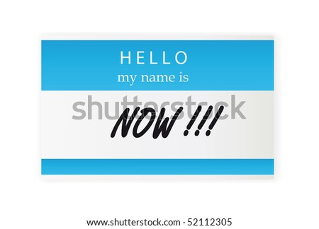 Hello my name is sticker - stock vector