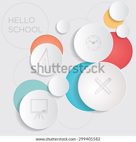 Hello School! Abstract background for advertising - stock vector