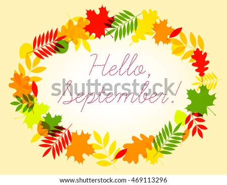 Perfect Hello September Greeting Card Witn Wonderful Image