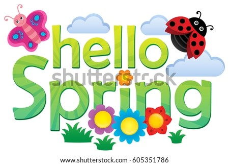 Hello spring theme image 3 - eps10 vector illustration.