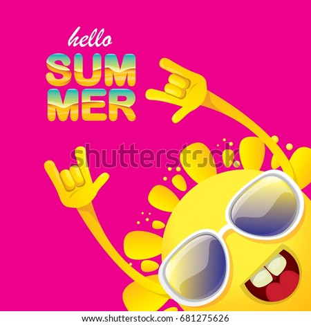 Funky stock images royalty free images vectors shutterstock hello summer funky rock n roll vector label isolated on pink background summer party background voltagebd Images