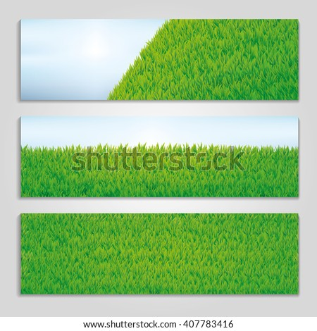 Hello summer green grass texture. Light lawn background. Seamless pattern vector for Banners, logo, web, card, vip exclusive certificate, gift luxury voucher, sale, welcome. - stock vector