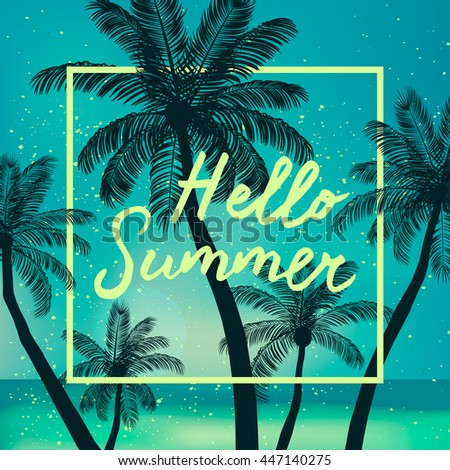 Hello Summer Time Wallpaper Fun Party Background Picture Art Design