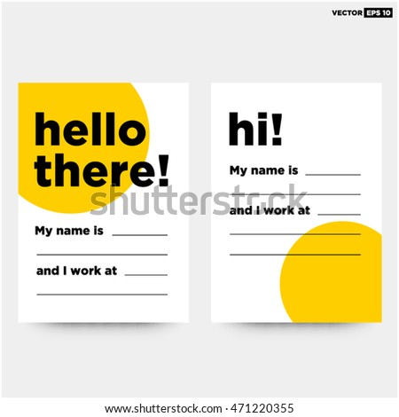 Hello there my name business card stock vector hd royalty free hello there my name is business card art vector illustration in flat style design colourmoves