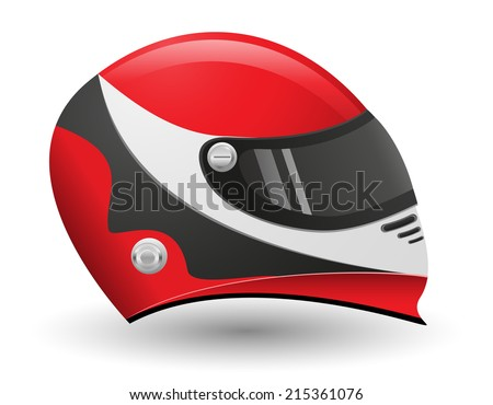 helmet for a racer vector illustration isolated on white background - stock vector