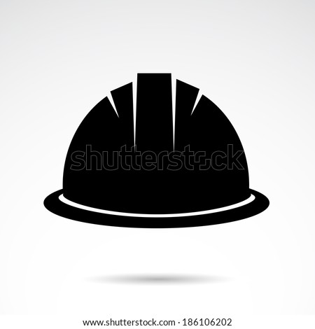 Helmet icon isolated on white background. VECTOR illustration. - stock vector