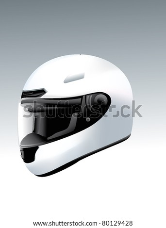 helmet motorbike bike car motorcycles - stock vector