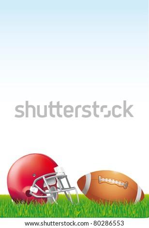 helmets football team ball - stock vector