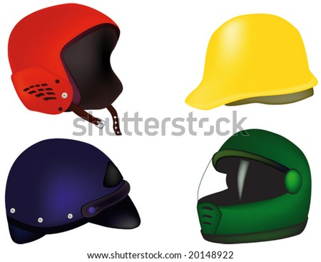helmets for a motorcycle hokey buildings