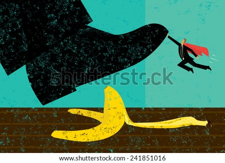 Help Avoiding Mistakes - stock vector